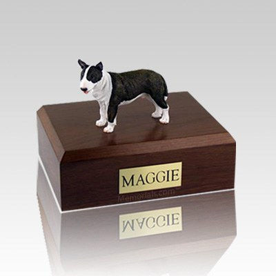 Bull Terrier Brindle Standing Large Dog Urn