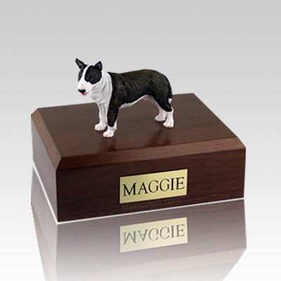 Bull Terrier Brindle Standing X Large Dog Urn