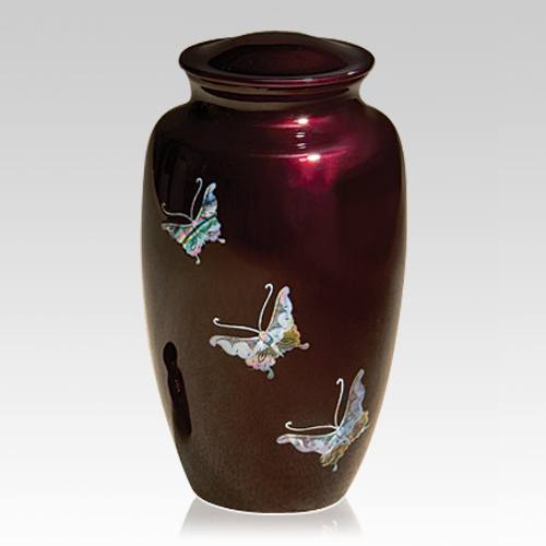 Butterflies To Heaven Cremation Urn