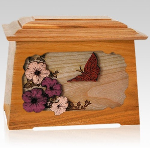 Butterfly Mahogany Aristocrat Cremation Urn