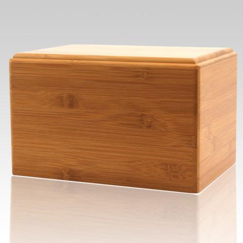 Bamboo Eternity Large Wood Urn