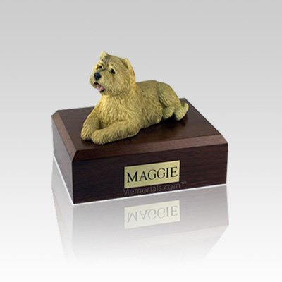 Cairn Terrier Tan Small Dog Urn
