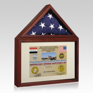 Capitol Flag Military Display Case