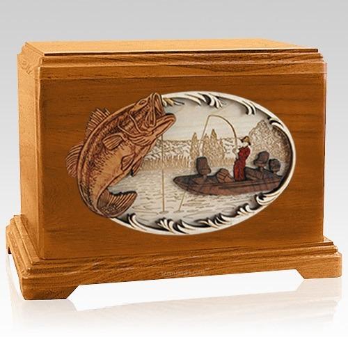 Catch of the Day Mahogany Hampton Cremation Urn
