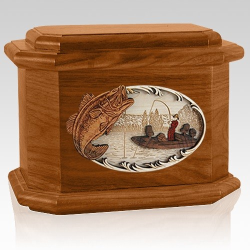 Catch of the Day Mahogany Octagon Cremation Urn