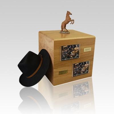 Chesnut Rearing Full Size Small Horse Urn