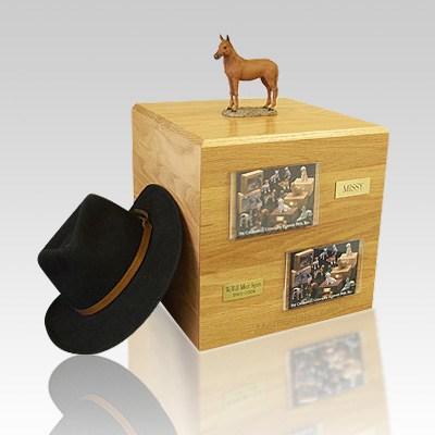 Chesnut Standing Full Size Large Horse Urn