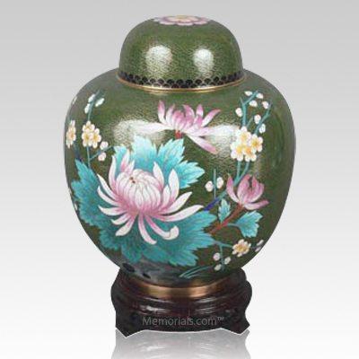 Oriental Lotus Cloisonne Urn