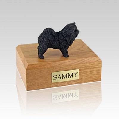Chow Black Large Dog Urn