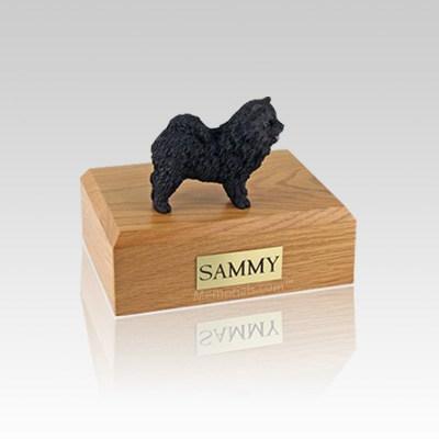 Chow Black Small Dog Urn
