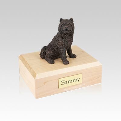 Chow Bronze Small Dog Urn