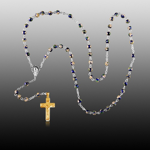Cloisonne Gold Cremation Rosary