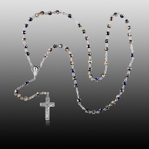 Cloisonne Silver Cremation Rosary