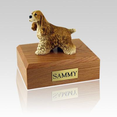 Cocker Spaniel Tan Large Dog Urn