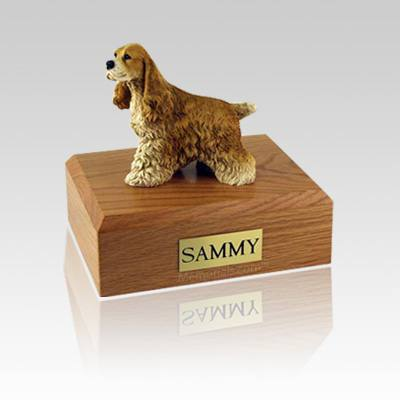 Cocker Spaniel Tan Medium Dog Urn