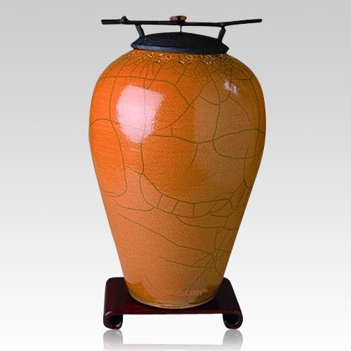 Raku Tall Coffee Companion Cremation Urn