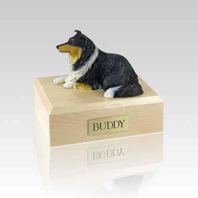 Collie Tri-Color Medium Dog Urn