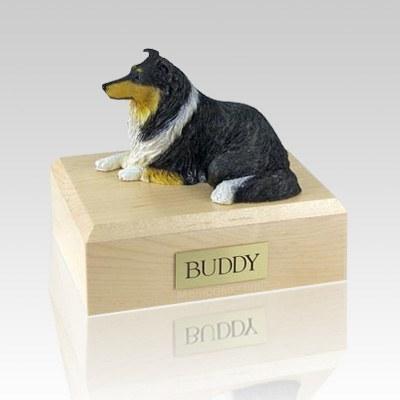 Collie Tri-Color X Large Dog Urn