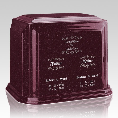 Burgundy Marble Urn For Two