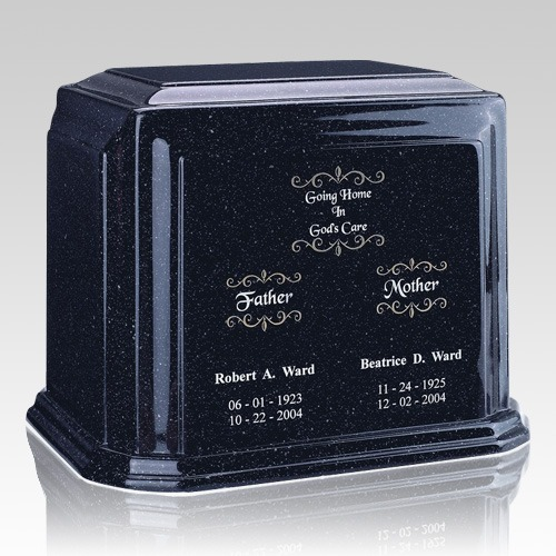 Sapphire Blue Marble Urn For Two