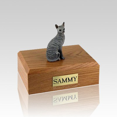 Cornish Rex Blue Small Cat Cremation Urn