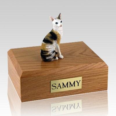 Cornish Rex Tort X-Large Cat Cremation Urn