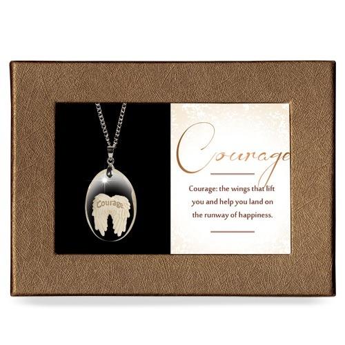 Courage Gift Boxed Angel Pendant