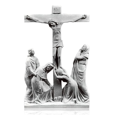 Crucifixion Large Marble Reliefs