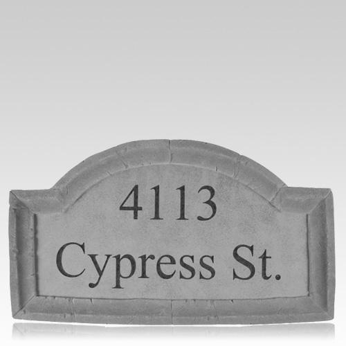 Customized Crescent Address Plaques