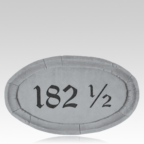 Customized Oval Address Plaque