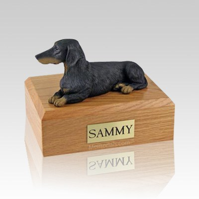 Dachshund Black Large Dog Urn