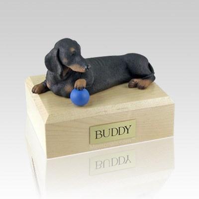 Dachshund Black Playing Large Dog Urn
