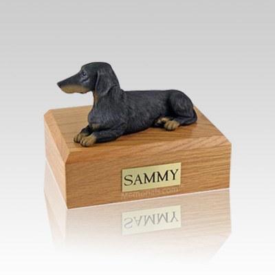 Dachshund Black Small Dog Urn
