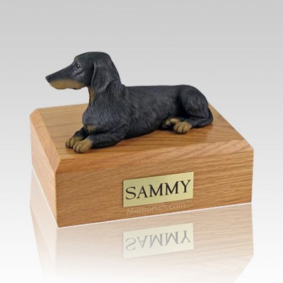 Dachshund Black X Large Dog Urn