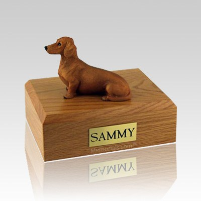 Dachshund Red & Brown Large Dog Urn