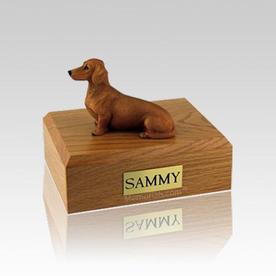 Dachshund Red & Brown Small Dog Urn