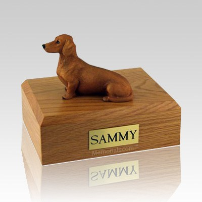 Dachshund Red & Brown X Large Dog Urn