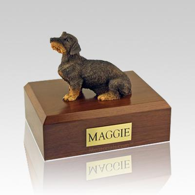 Dachshund Wire Haired Large Dog Urn