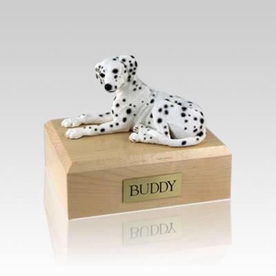 Dalmatian Laying Small Dog Urns