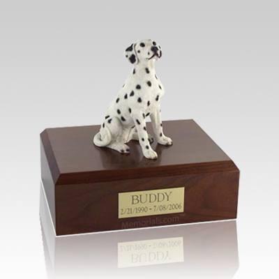 Dalmatian Seated Small Dog Urn