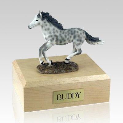 Dapple Gray Running X Large Horse Cremation Urn