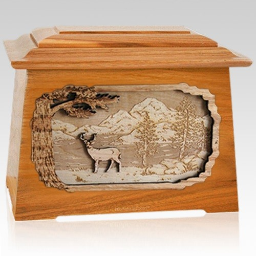 Deer Mahogany Aristocrat Cremation Urn