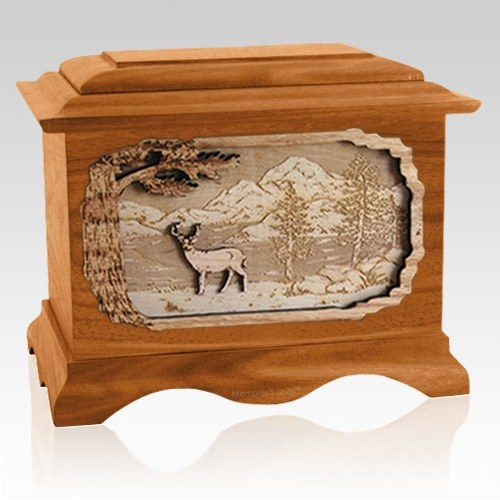 Dear Mahogany Cremation Urn