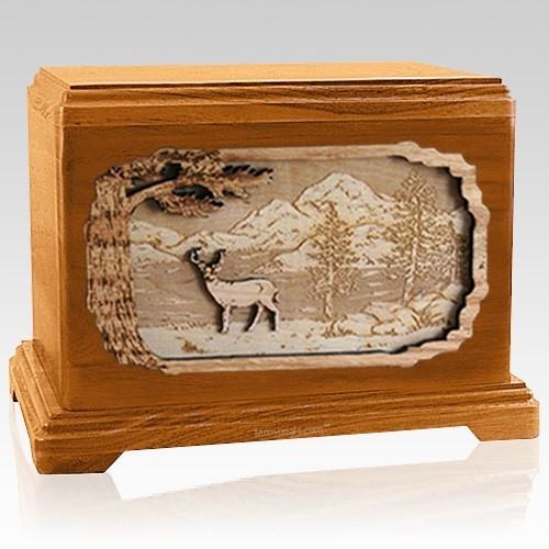 Deer Mahogany Hampton Cremation Urn