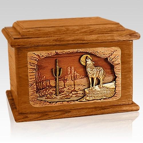 Desert Moon Mahogany Memory Chest Cremation Urn