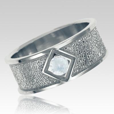 Diamond Sterling Silver Ring Print Keepsake