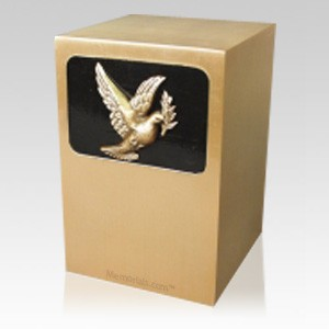 Dignified Dove Bronze Urn