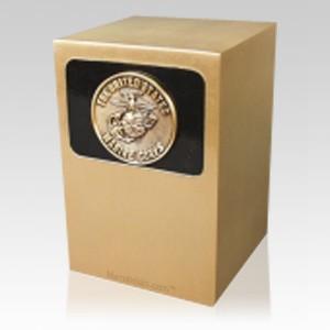 Dignified Marines Bronze Urn