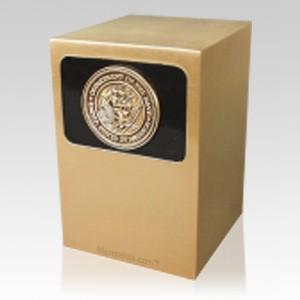 Dignified Navy Bronze Urn