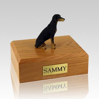Doberman Black X Large Dog Urn